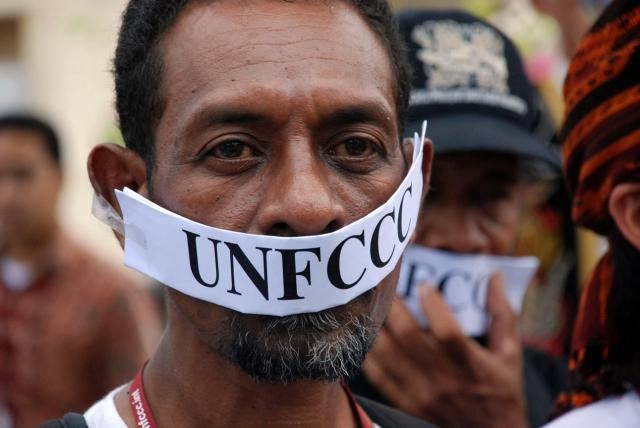 Protest outside the United Nations Framework Convention on Climate Change (UNFCC). 2007 Orin Langelle GJEP-GFC